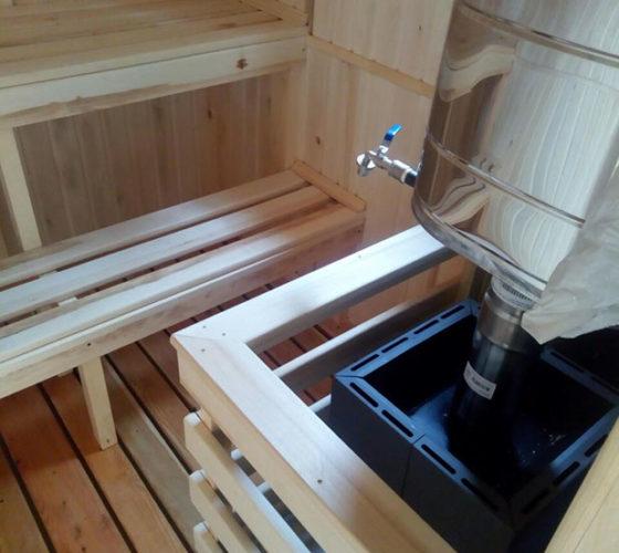 Каркасная баня 4х6